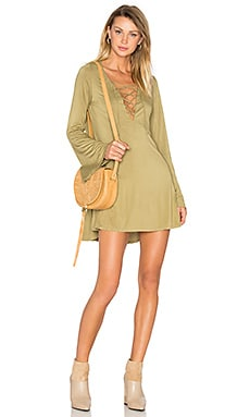 Jimi Mini Dress in Olive Ash