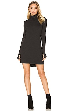 Muse Turtleneck Dress in Black