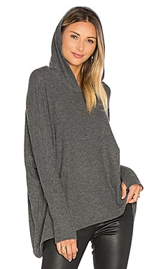Dash Pullover with Hood in Black