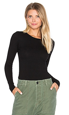Webb Rib Top in Black