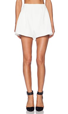 Pleat Shorts in Ivory