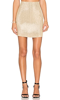 Natalie Sequin Pencil Skirt in Gold