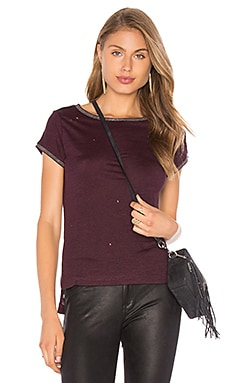 Heather Embellished Tee in Mulberry