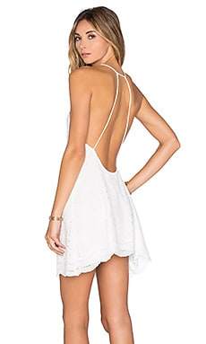 Shade Dress in White Scallop Lace