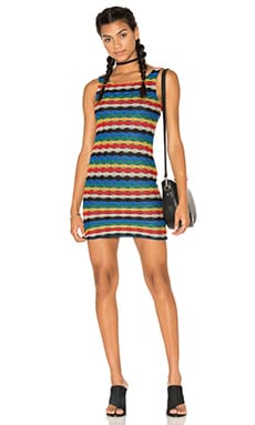 Buck Dress in Multi Barbados Knit