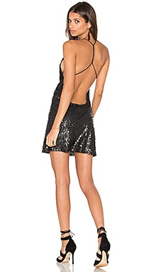 Sterling Dress in Black Milky Sequin