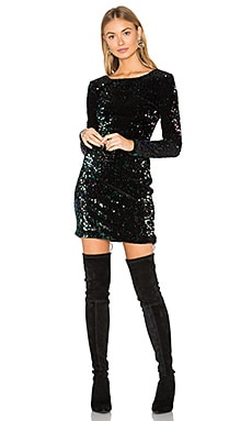 Gabby Dress in Oil Iridescent Sequin