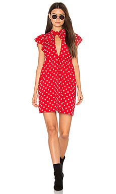 Clover Dress in Red Stars