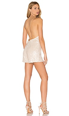 Vanille Romper in Cream Milky Sequin