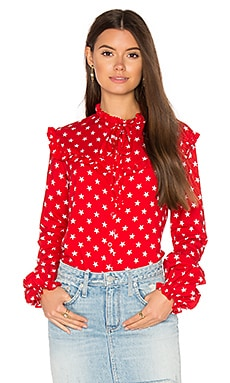 Prairie Shirt in Red Stars