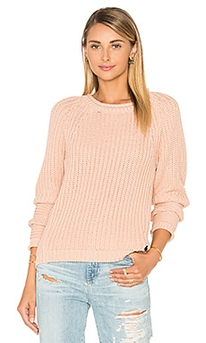 Basic Pullover Sweater in Peach