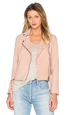 Warren Biker Jacket in Rose Dawn