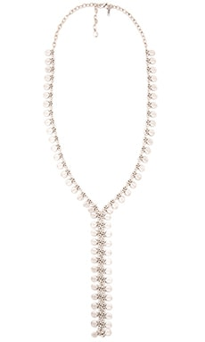 Seadrop Lariat Necklace in Silver
