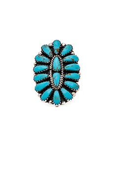 Sun Goddess Ring in Turquoise & Silver