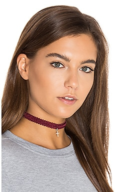 x REVOLVE Kate Modele Lace Choker in Red Wine