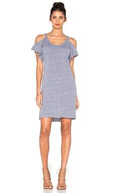 Cassandra Cold Shoulder Dress in Heather Grey