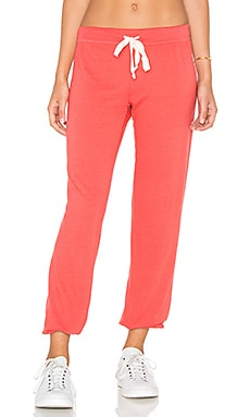 Medora Capri Sweatpant in Lobster Red