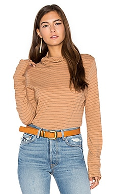Virginia Turtleneck Top in Camel
