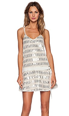 Belted In Shift Dress in Silver Multi Sequin