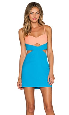 x Naven Twins Never Bodycon Dress in Blue