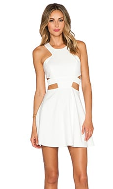 x Naven Twins Angel Dress in Ivory