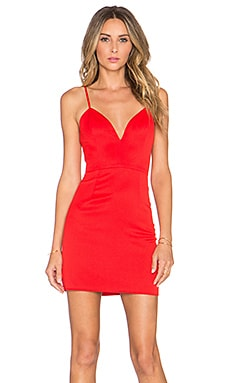 x Naven Twins Not Your Babe Dress in Red
