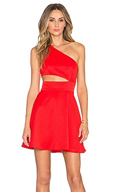 x Naven Twins Break The Rules Dress in Red
