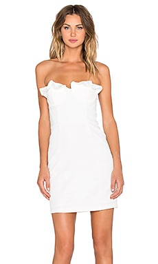 xREVOLVE Unintentional Strapless Dress in Ivory