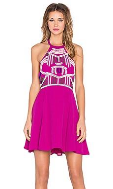 x Naven Twins Flirty Girl Skater Dress in Berry