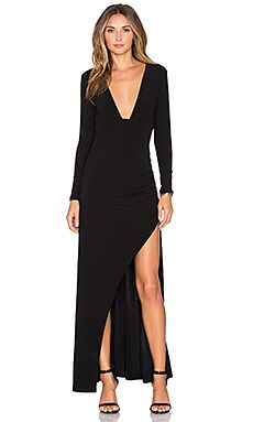 x REVOLVE Own The Night Maxi Dress in Black