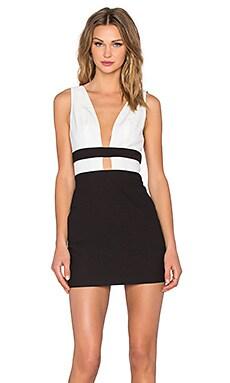 x REVOLVE Someone Else Dress in Ivory & Black
