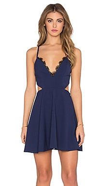 x Naven Twins Sweet Nothings Dress in Navy