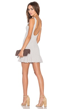 x REVOLVE There's Time Ribbed Dress in Heather Grey