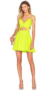 x Naven Twins Tell Me More Fit & Flare Dress in Citrus