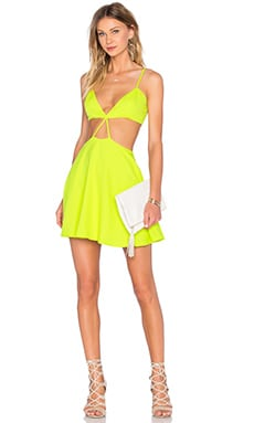 x Naven Twins Hanging On Strappy Dress in Citrus