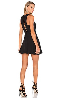 x Naven Twins Lace Me Up Fit & Flare in Black