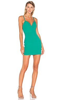 x Naven Twins Not Your Babe Dress in Evergreen