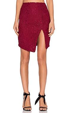 x REVOLVE Seduction Skirt in Dark Red