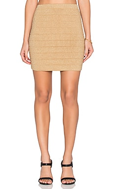 x Naven Twins Missed You Skirt in Metallic