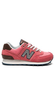 574 Cruisin' Sneaker in Mineral Pink & Grey