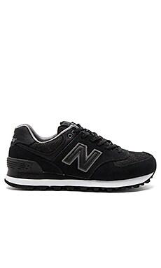 Nouveau Lace Sneaker in Black & Castlerock