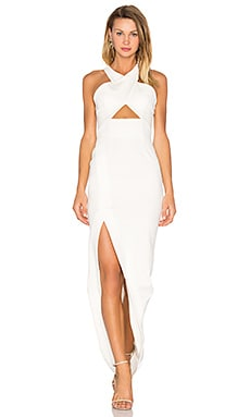 Event Ponti Cross Over Gown in White