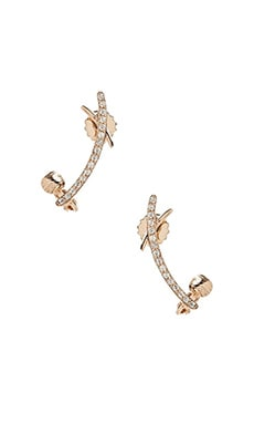 Cross Curve Ear Cuff in Gold