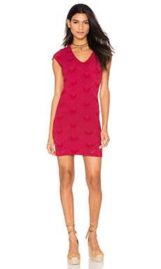 Spanish Deep V Cap Sleeve Dress in Sangria