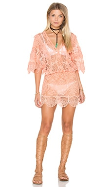 Seashell Siren Mini Dress in Coral