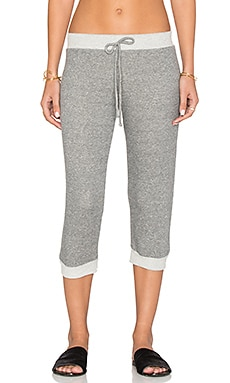 Cropped Terry Sweatpants in Charcoal