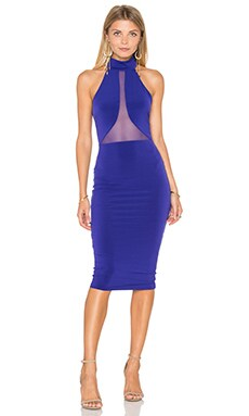 The Eclipse Halter Midi Dress in Blue