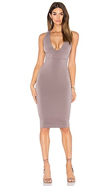 Cherish Midi Dress in Mocha