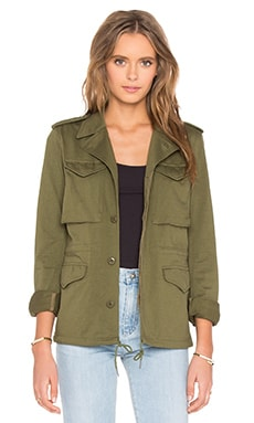 Skinny M-43 Military Jacket in Olive