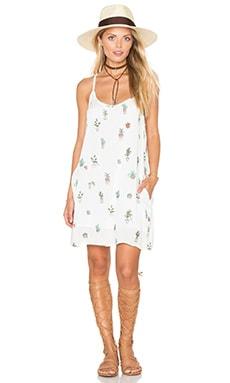 Paint Bloom Dress in White Multi
